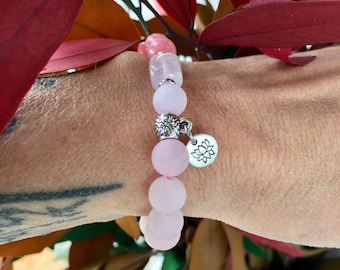 Layers of Love Mala Bracelet | Pink Mala Beads | Rose Quartz | Pink Jade | AAA Luxury Gemstones | Reiki Healing | Unconditional Love