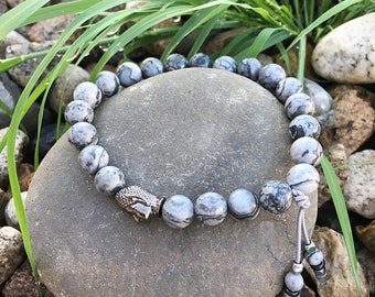 Mens Positive Energy Bracelet | Wrist Mala | Reiki Infused Mala Bracelet | Healing Mala Beads | Transforms Negative Energy Into Positive