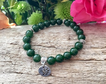 Success Jade Mala Bracelet | Reiki Infused Mala Beads | Luxury Deep Green Jade Gemstones | Yoga | Meditation | Wealth | Good Fortune