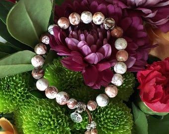 Euphoria Mala Bracelet | Crazy Lace Agate | Mala Beads | Wrist Mala | Unique | Natural Gemstones | Yoga Bracelet | Happiness | Bliss | Joy