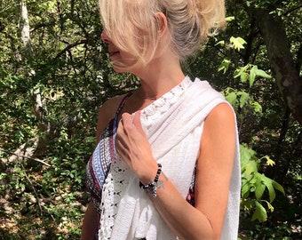Lightworker Mala Bracelet | AAA Natural Gemstones | Black Tourmaline | African Pietersite | Rare Shungite | Labradorite | Spiritual Visions