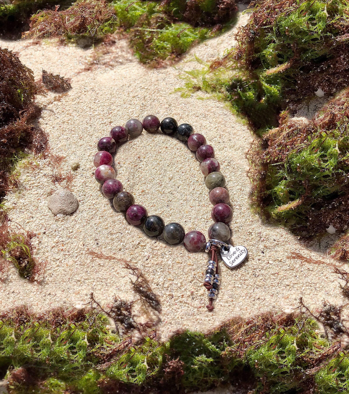 Love & Serenity Mala Bracelet | Rainbow Tourmaline