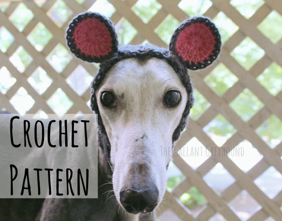 Mouse Snood For Greyhounds Crochet Pattern Pattern Only Etsy