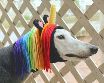 Unicorn Crochet Snood for Greyhounds