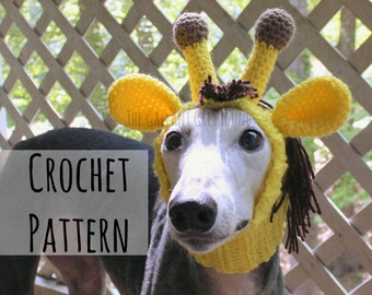 Giraffe Snood for Greyhounds Crochet Pattern (PATTERN ONLY!)