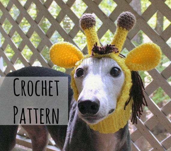 Giraffe Snood For Greyhounds Crochet Pattern Pattern Only Etsy
