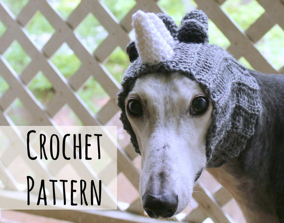 Rhino Snood For Greyhounds Crochet Pattern Pattern Only Etsy