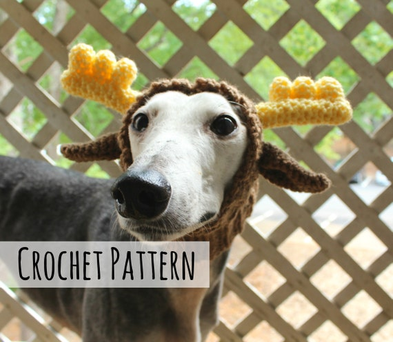 Moose Snood For Greyhounds Crochet Pattern Pattern Only Etsy
