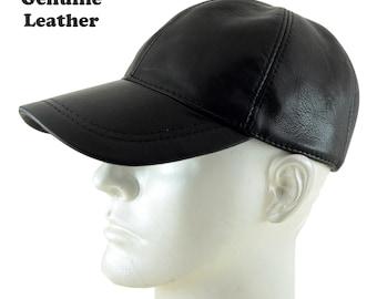 Ha G s Adjustable Genuine Leather Baseball Cap 613e53eb0ef