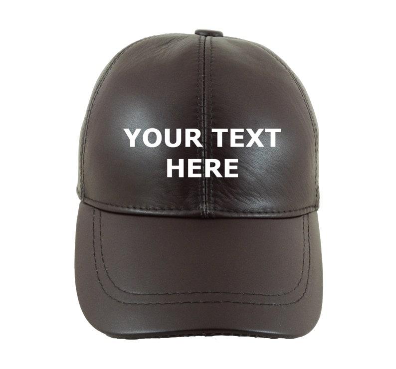 b857c432 Custom Design Leather Baseball Caps Personalized Leather   Etsy
