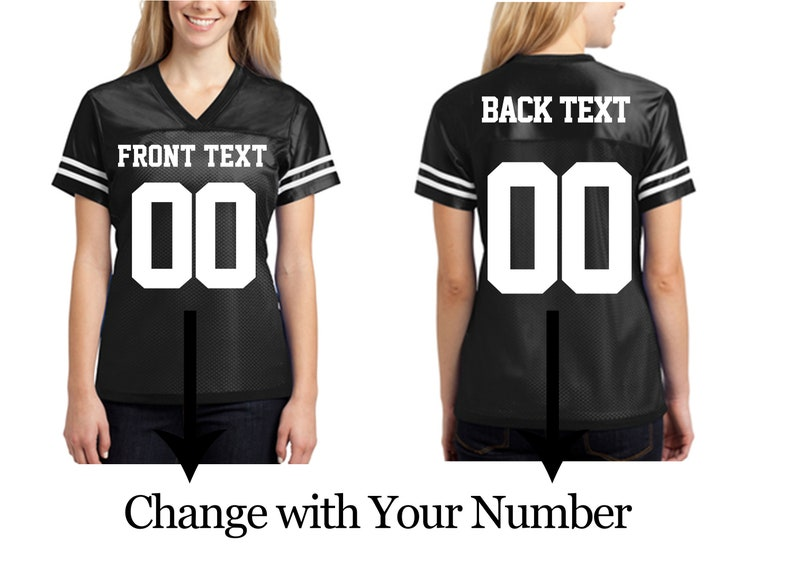 3105638db02 Customized Ladies Jerseys Your Name and Number Jersey T-shirts