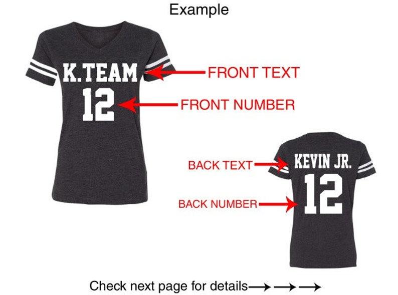 35c3d9efc92 Customized Text Name Number LADIES JERSEY Team Shirts Lat