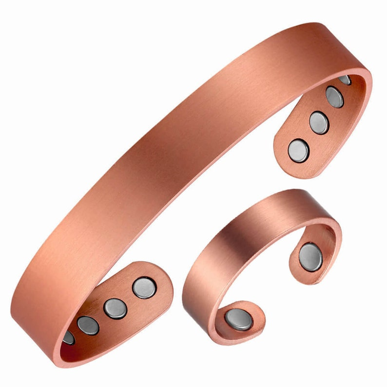 Copper Magnetic Health BandRing Bracelet  /'Plain 8 Mags/'
