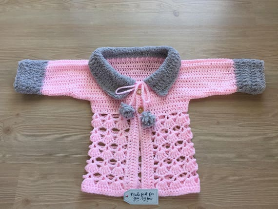 dba722860045 cheaper 81753 2b0c4 new handmade crochet baby girl sweater jacket ...