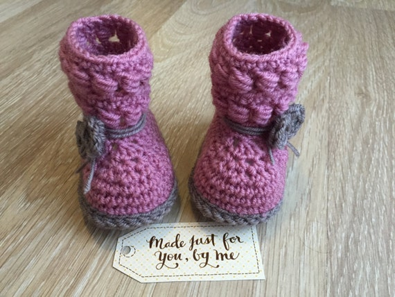 Crochet Baby Girl Willow Booties Gift Idea For Baby Shower Etsy