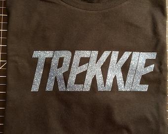 Star Trek - Trekkie - Blue Glitter - T-Shirt