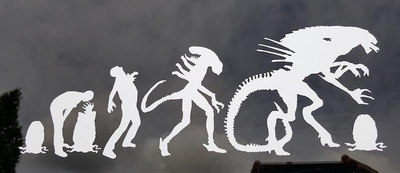 Aliens - Alien Evolution- Vinyl Decal - Multiple Colors