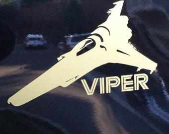 Battlestar Galactica  - Viper - Vinyl Decal - Multiple Colors