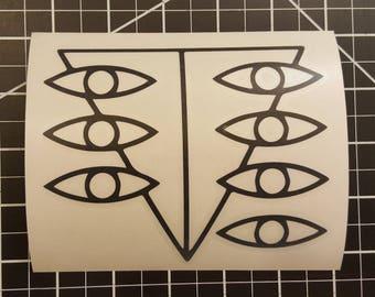 Neon Genesis Evangeleon - Seele Symbol  - Vinyl Decal - Multiple Colors