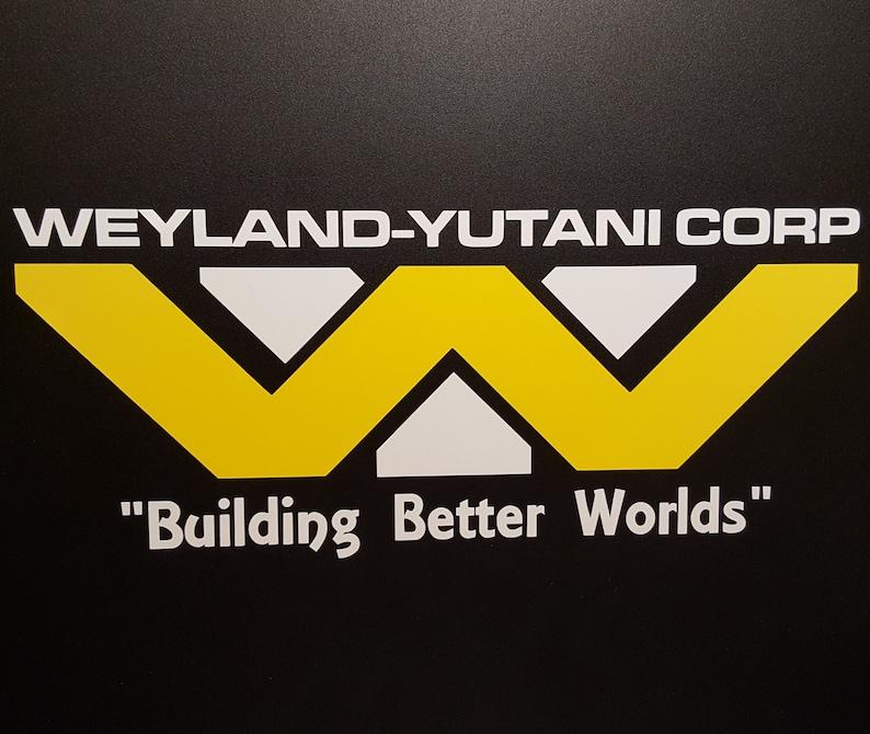 Alien  Aliens  Weyland-Yutani Corp Two Tone Logo  Vinyl image 0