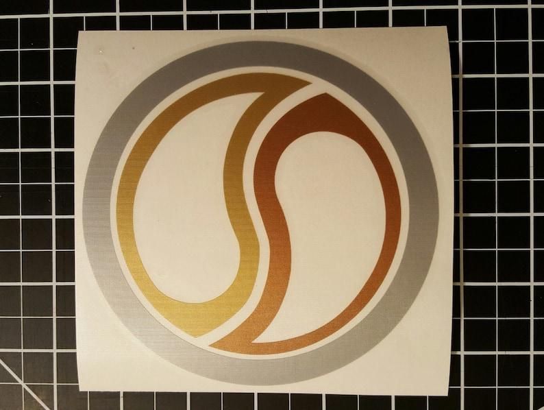 Xena Warrior Princess  Super Chakram Three Tone  Vinyl Decal image 0