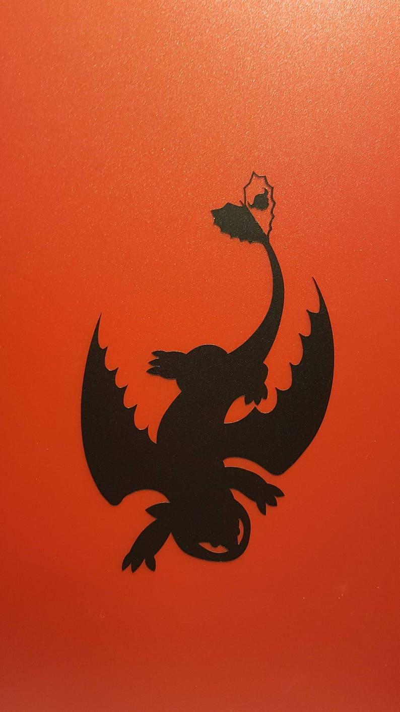 Toothless   Vinyl Decal  Multiple Colors image 0