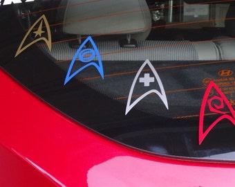 Star Trek - Starfleet Insignia Badge Multipack or Individual - Vinyl Decal - Multiple Colors