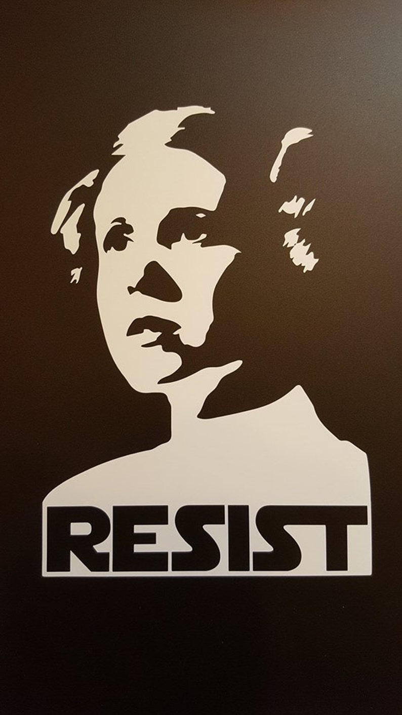 Leia  Resist  Vinyl Decal  Multiple Colors image 0