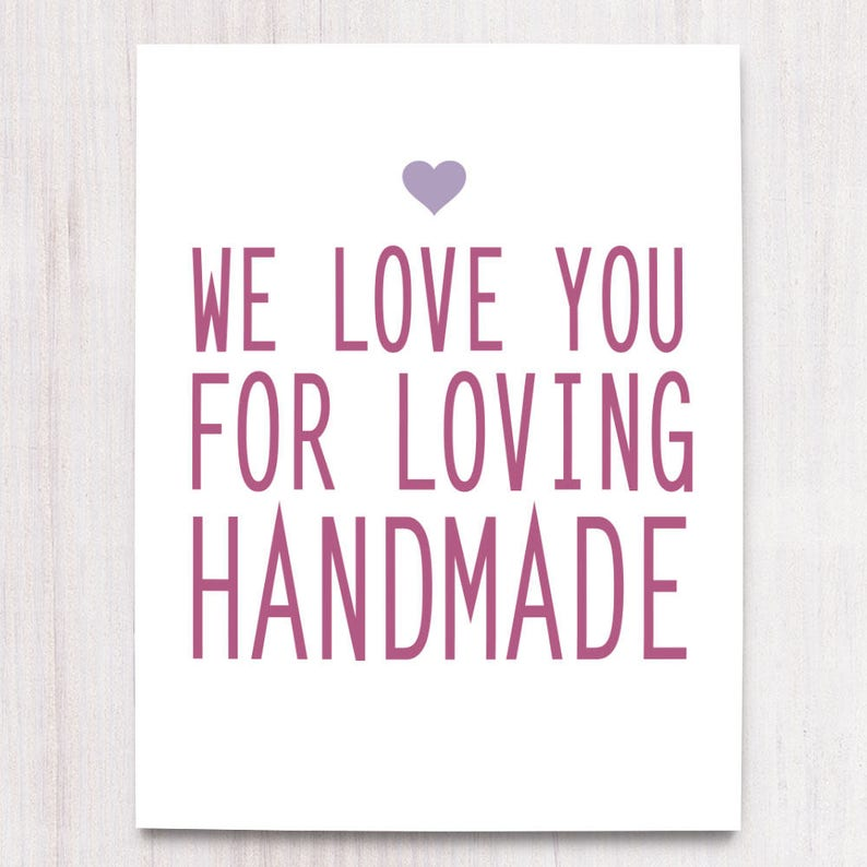Loving Handmade Support Small Business Printable Art Wall image 0