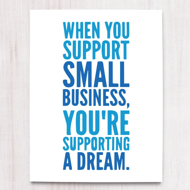 Shop Small Business Printable Art Wall Decor Instant image 0