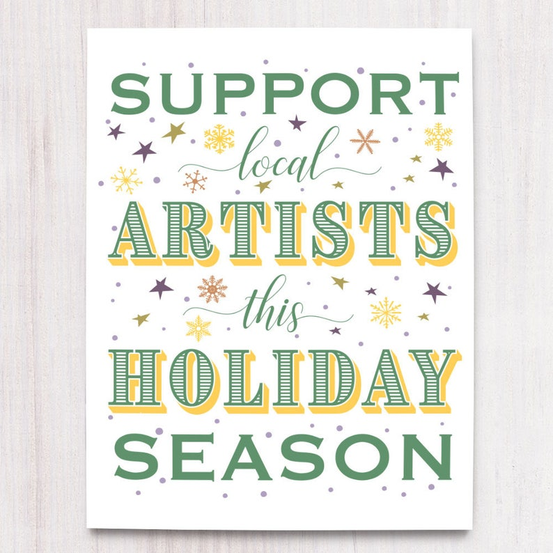 Support Artists Printable Art Wall Decor Instant Download image 0