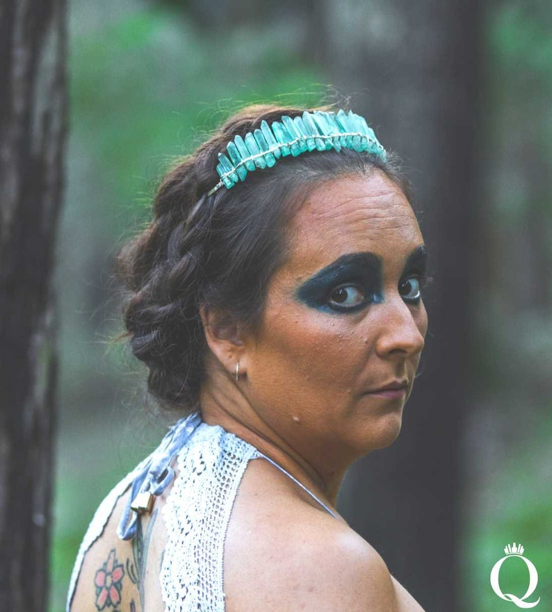 Aqua Aura Quartz Duchess Crown