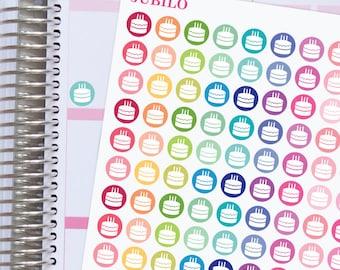 BIRTHDAY DOTS Planner Stickers.  BIRTHDAY Icon Stickers.  Planner Stickers.