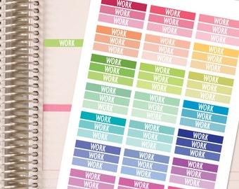 WORK HEADERS. Work Stickers. Planner Stickers