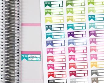 BILL DUE Planner Stickers.