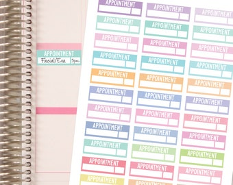 APPOINTMENT STICKERS - Pastels.  Planner Stickers.