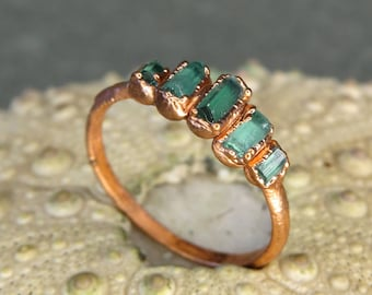 Tourmaline birthstone ring blue tourmaline ring october birthday ring dainty gift ring