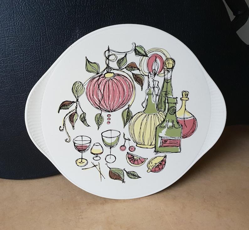 West-Germany mid-century pottery happy food design sixties ceramic cake plate Edelkeramik Gr\u00fcnstadt 2980
