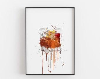 INSPIRATIONAL WATERCOLOUR GIN LOVER PRINT WALL POP ART IDEAL XMAS GIFT