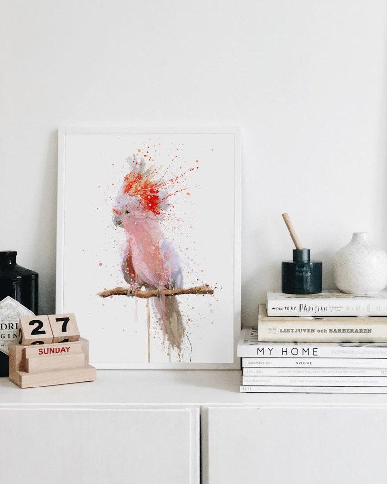 Cockatoo Wall Art Print \u2018Pink Majesty\u2019 0972