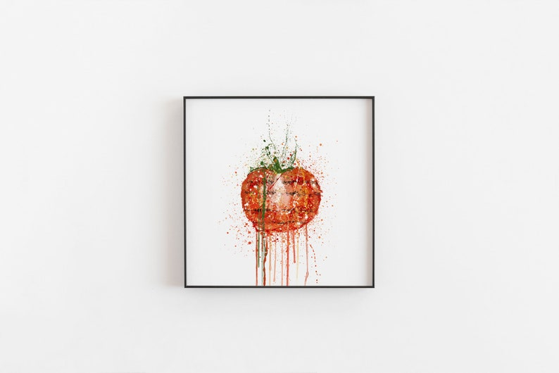 Grilled Tomato Wall Art Print 0377