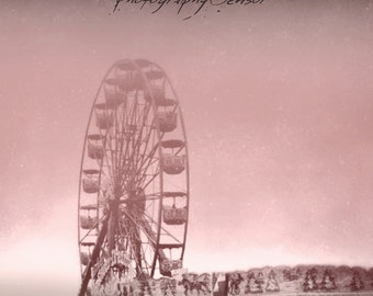 Photography Ferris Wheel, Carnival Ride, Carousel Photography, Fine Art Print, Print Nursery, Deco Vintage, Boho Sticker.