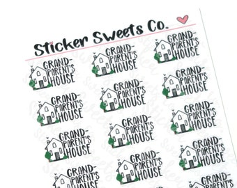 Grandparent's House Planner Stickers