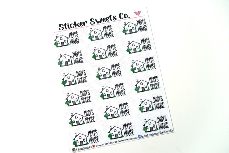 Mom's House Planner Stickers image 0