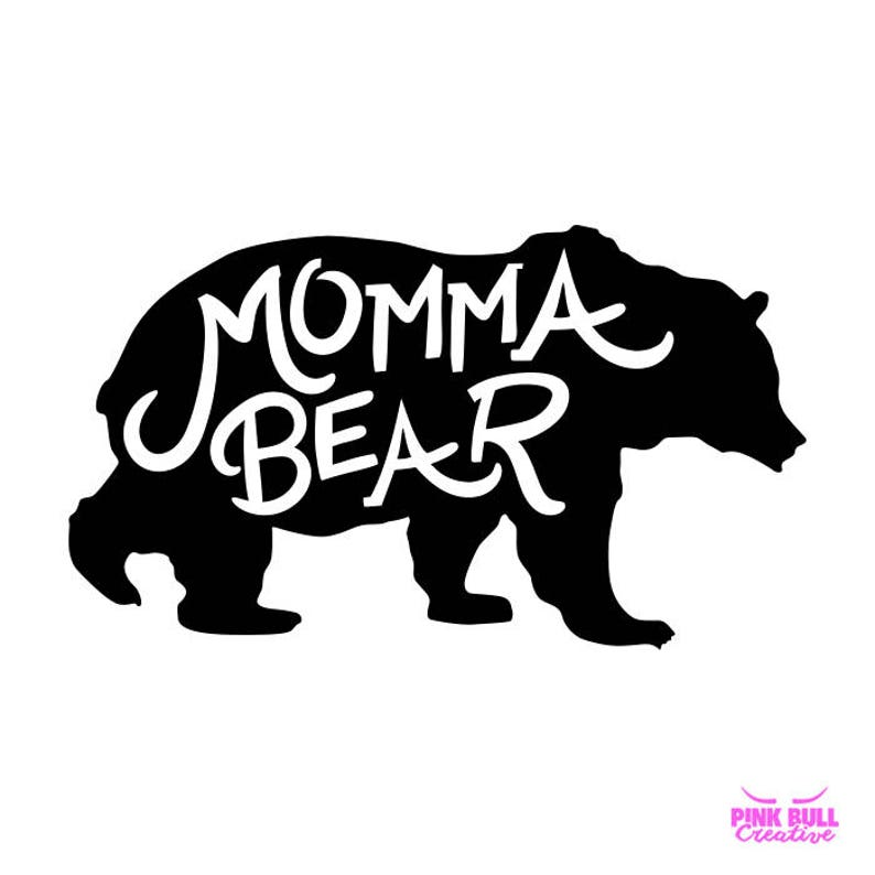Momma Bear SVG cut file for Cricut, Silhouette, Cameo or other cutting  device, vinyl transfer Svg cut file