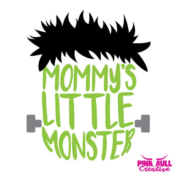 Mommy S Little Monster Svg Cut File For Cricut Or Other Etsy