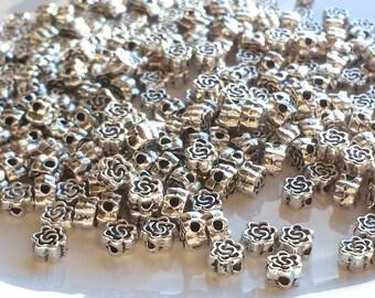 10 SPACER Rose 8mm Perlen KUGELN Zwischenperlen Metallperlen #S296