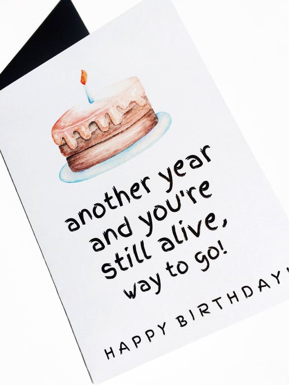 Old People Wrinkle Funny Birthday Card Alternative Birthday Etsy