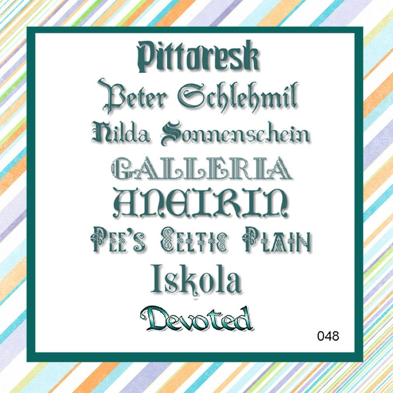 Pretty Font Series 048 - Instant download - Machine Embroidery Fonts