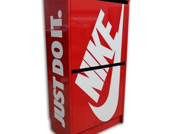 Red Nike Just Do It Shoe Storage Box Cabinet f028a506b3ee